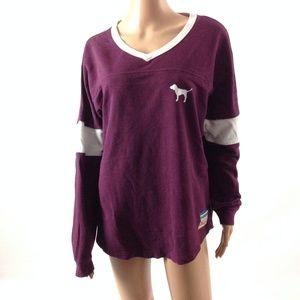 Pink Victoria's Secret Women's Sweatshirt Purple